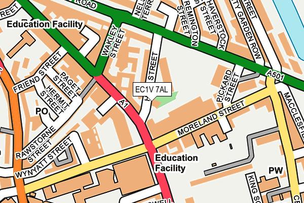 EC1V 7AL map - OS OpenMap – Local (Ordnance Survey)