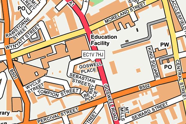 EC1V 7HJ map - OS OpenMap – Local (Ordnance Survey)