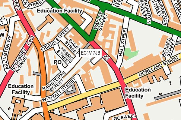 EC1V 7JB map - OS OpenMap – Local (Ordnance Survey)