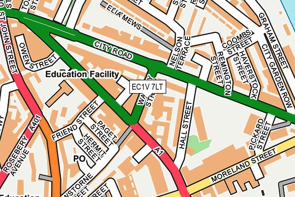 EC1V 7LT map - OS OpenMap – Local (Ordnance Survey)