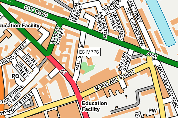 EC1V 7PS map - OS OpenMap – Local (Ordnance Survey)