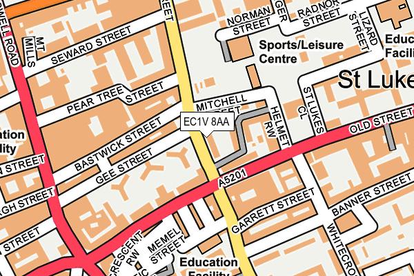 EC1V 8AA map - OS OpenMap – Local (Ordnance Survey)
