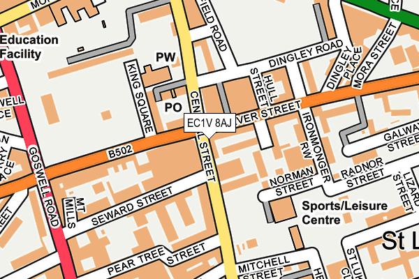 EC1V 8AJ map - OS OpenMap – Local (Ordnance Survey)