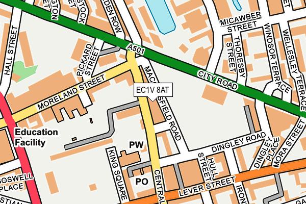 EC1V 8AT map - OS OpenMap – Local (Ordnance Survey)