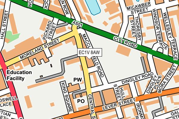 EC1V 8AW map - OS OpenMap – Local (Ordnance Survey)