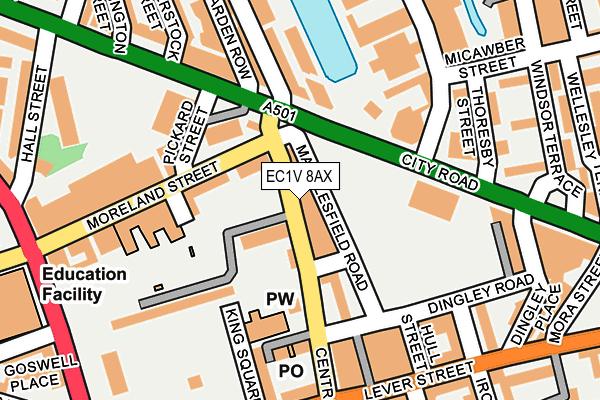 EC1V 8AX map - OS OpenMap – Local (Ordnance Survey)