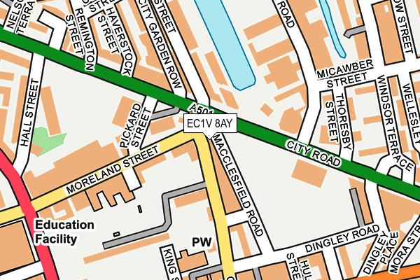 EC1V 8AY map - OS OpenMap – Local (Ordnance Survey)