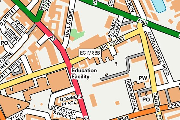 EC1V 8BB map - OS OpenMap – Local (Ordnance Survey)