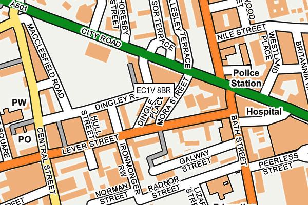 EC1V 8BR map - OS OpenMap – Local (Ordnance Survey)
