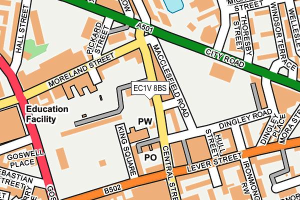 EC1V 8BS map - OS OpenMap – Local (Ordnance Survey)