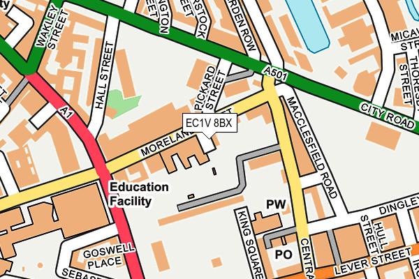 EC1V 8BX map - OS OpenMap – Local (Ordnance Survey)