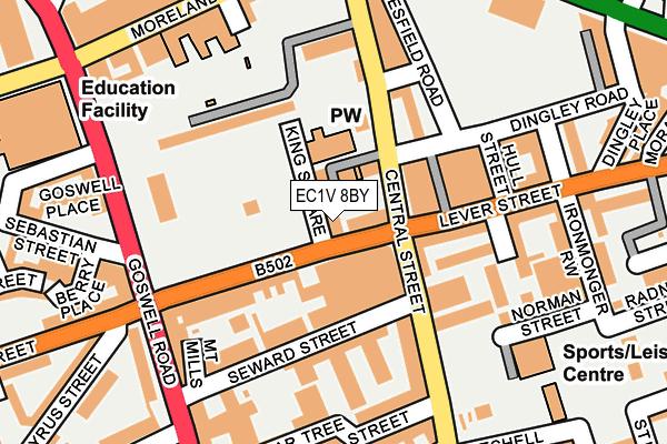 EC1V 8BY map - OS OpenMap – Local (Ordnance Survey)