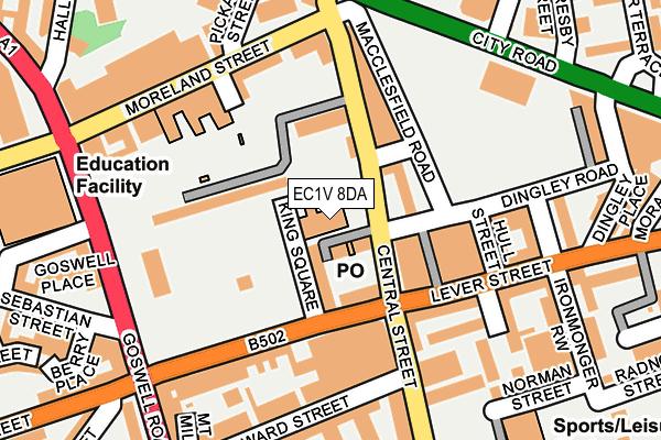EC1V 8DA map - OS OpenMap – Local (Ordnance Survey)