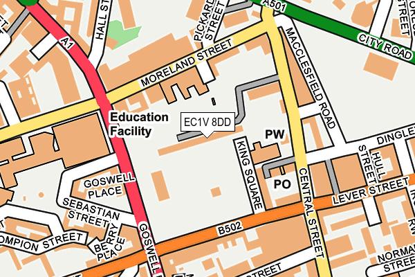 EC1V 8DD map - OS OpenMap – Local (Ordnance Survey)