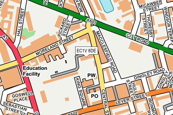 EC1V 8DE map - OS OpenMap – Local (Ordnance Survey)