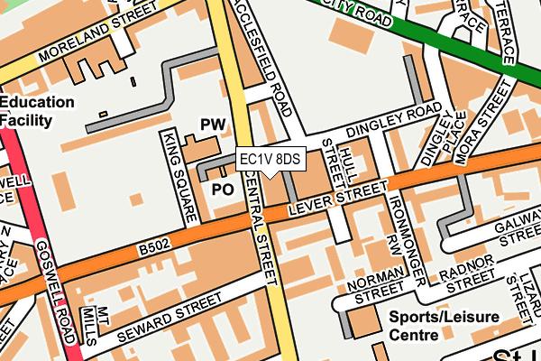 EC1V 8DS map - OS OpenMap – Local (Ordnance Survey)