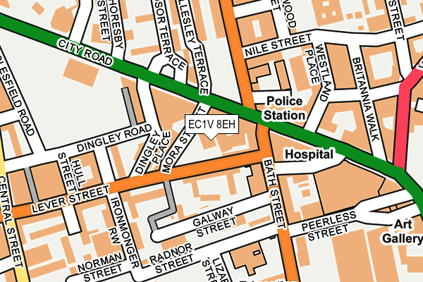 EC1V 8EH map - OS OpenMap – Local (Ordnance Survey)