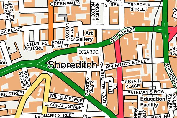 EC2A 3DQ map - OS OpenMap – Local (Ordnance Survey)