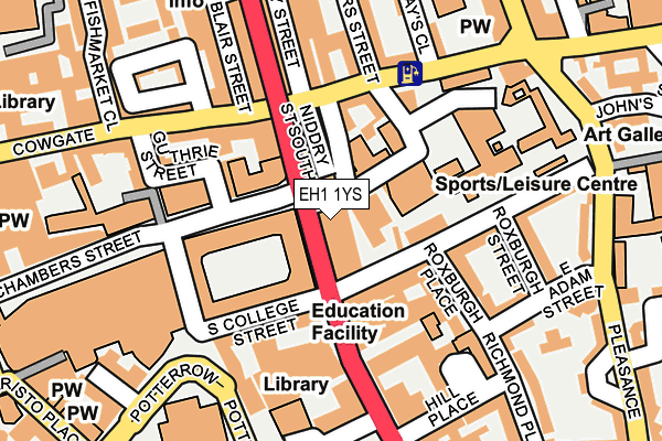 Map of BLACKWELL (SCOTLAND) LIMITED at local scale