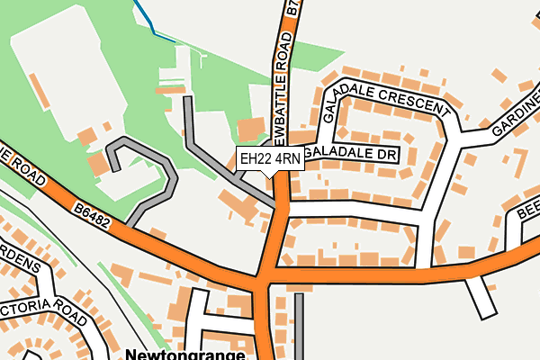 Map of MEADOWFIELD GARAGE LTD at local scale