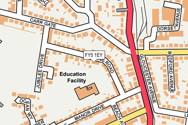 FY5 1EY map - OS OpenMap – Local (Ordnance Survey)