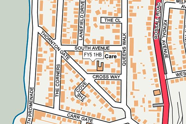 FY5 1HB map - OS OpenMap – Local (Ordnance Survey)