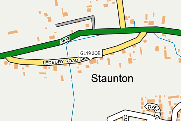 Map of MPTB LTD at local scale
