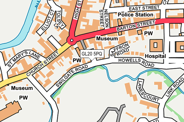 GL20 5PQ map - OS OpenMap – Local (Ordnance Survey)