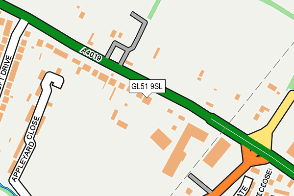 GL51 9SL map - OS OpenMap – Local (Ordnance Survey)