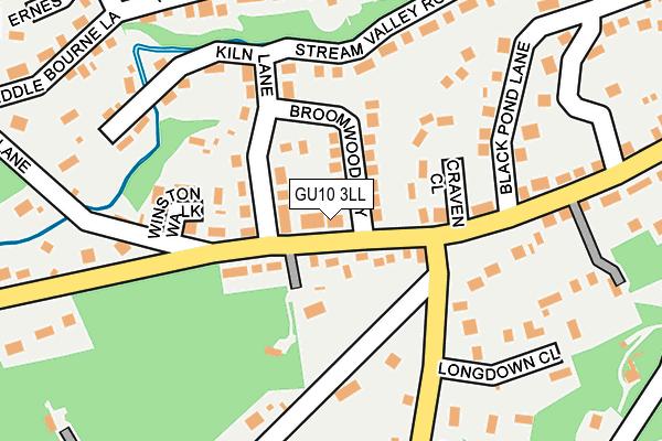GU10 3LL map - OS OpenMap – Local (Ordnance Survey)