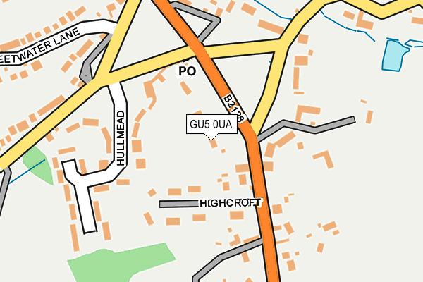 GU5 0UA map - OS OpenMap – Local (Ordnance Survey)