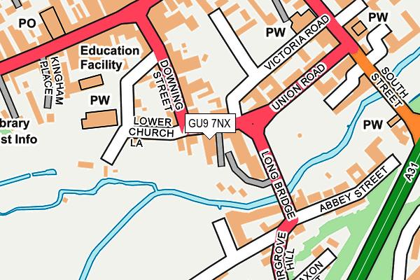 GU9 7NX map - OS OpenMap – Local (Ordnance Survey)