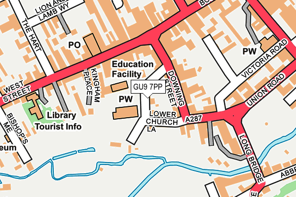 GU9 7PP map - OS OpenMap – Local (Ordnance Survey)