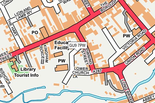 GU9 7PW map - OS OpenMap – Local (Ordnance Survey)