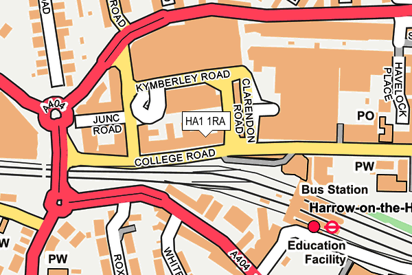 Map of ABODE HALLAM LTD at local scale