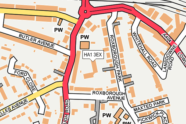 Map of FRATTON ROAD DEVELOPMENT LIMITED at local scale