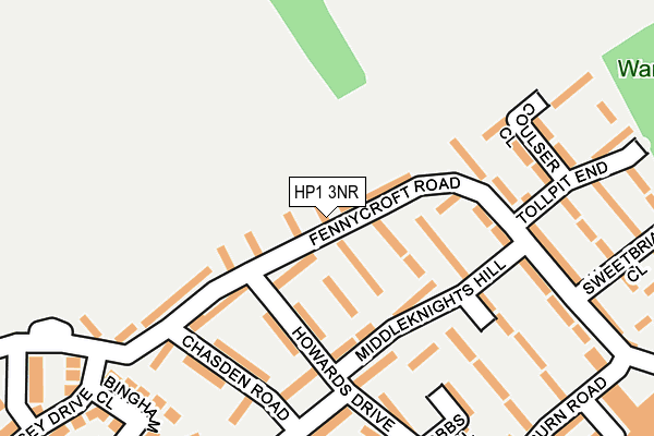 HP1 3NR map - OS OpenMap – Local (Ordnance Survey)