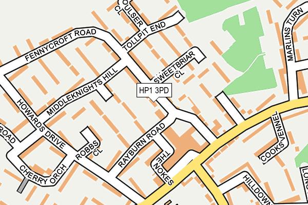 HP1 3PD map - OS OpenMap – Local (Ordnance Survey)