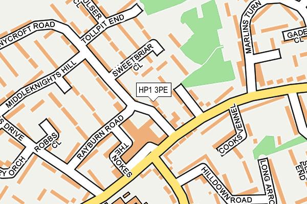 HP1 3PE map - OS OpenMap – Local (Ordnance Survey)