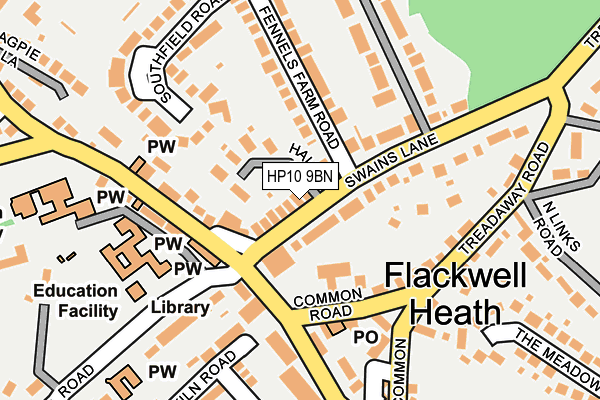 Map of PEN ITHON ESTATE LIMITED at local scale
