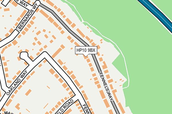 HP10 9BX map - OS OpenMap – Local (Ordnance Survey)