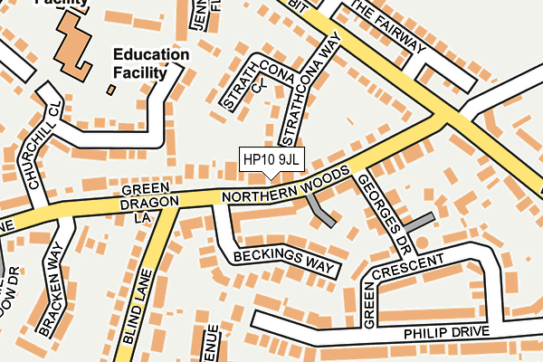 Map of N.K.G. BUILDING LIMITED at local scale