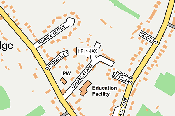 Map of H P A ASSOCIATES LTD at local scale