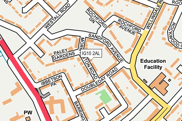 IG10 2AL map - OS OpenMap – Local (Ordnance Survey)
