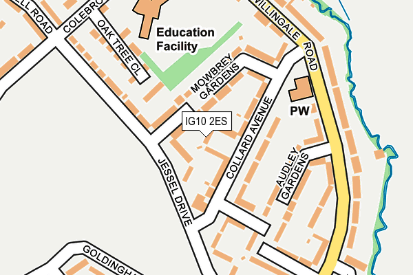 IG10 2ES map - OS OpenMap – Local (Ordnance Survey)