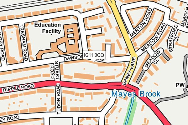 IG11 9QQ map - OS OpenMap – Local (Ordnance Survey)