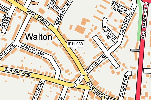 IP11 9BB map - OS OpenMap – Local (Ordnance Survey)