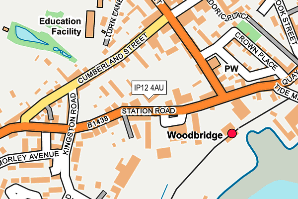 Map of WHISTLESTOP CAFE WOODBRIDGE LIMITED at local scale
