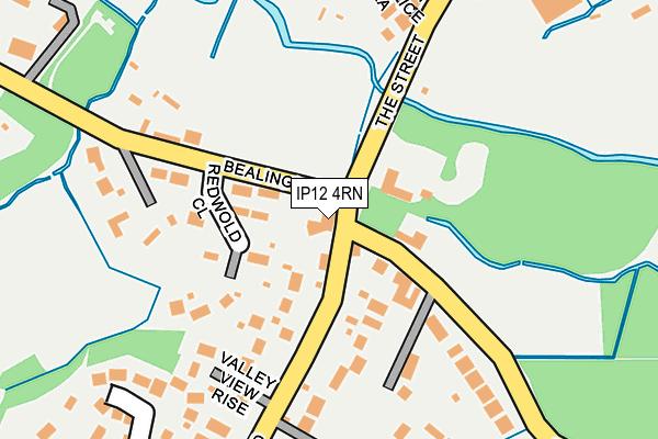 IP12 4RN map - OS OpenMap – Local (Ordnance Survey)