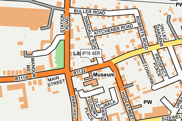 IP16 4ER map - OS OpenMap – Local (Ordnance Survey)